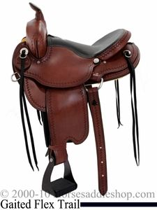"""16"""" 17"""" Dakota Gaited Flex Trail Saddle 211"""