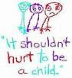 When a parent was the victim of child abuse, they lack an understanding of what it was like to experience a care-free and pain-free childhood and often times grow up to inflict that same type or a different type of pain on their children and continue pouring into the vicious cycle of abuse.