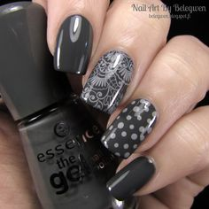 Nail Art by Belegwen: *Essence Rock My World! - Pretty much my perfect grey :) Dark, not too warm, not too cool, and goes on super opaque. Love it!