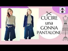 Cucire una gonna pantalone - YouTube