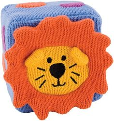 Rich Frog Educational Products - 4 inch K'Nits Blocks - Lion - K'NITS Baby Blocks are soft, squishy 4 inch cubes