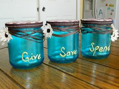 Shelly Homemaker: Give Save Spend Piggy Banks