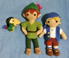 """Jake and the Never Land Pirates"" amigurumi - Skully, Peter and Cubby"