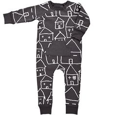Sleepy House Fleece Romper by Kid + Kind - Junior Edition