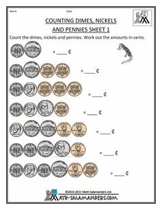 Printables Basic Money Worksheets canada money worksheets and coins on pinterest counting dimes nickels pennies 1
