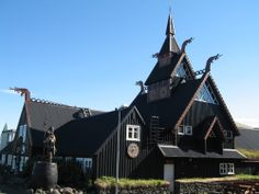 Viking Village, Hafnarfjordur, Iceland. I love this small town. We visit Hafnarfjörður Museum. The main museum building houses two exhibitions. One traces town history, while the other focuses on antique toys for children.