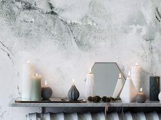 #bougies #radiateur #mur #miroir