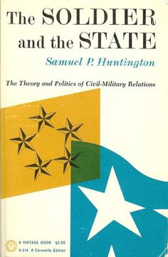 The Soldier and the State; the Theory and Politics of Civil-Military Relations by samuel huntington, http://www.amazon.com/dp/B0030DAK40/ref=cm_sw_r_pi_dp_PUgdrb1M5XJE6