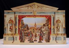 1990 reproduction of a toy theater originally created in 1883 by the Verlag von J.F. Schreiber Company of Esslingen, Germany.