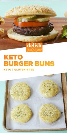 If you're on the keto diet but love sandwiches, you NEED these buns. Get the recipe at Delish.com. #recipe #easyrecipe #easy #keto #ketogenic #ketodiet #ketorecipes #glutenfree #buns #burger #bread #sandwich #cheese #mozzarella #creamcheese #baking #diet #glutenfreerecipes