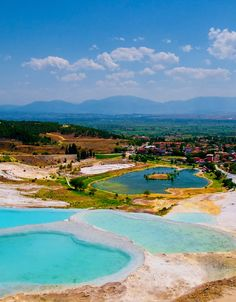 View From Natural Rock Pools, Pamukkale Turkey
