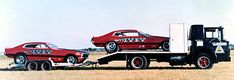 Terry Ivey's two Ford Maverick Funny Cars