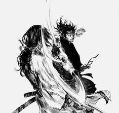 Manga Panel Samurai Drawing, Samurai Artwork, Manga Drawing, Bd Comics, Manga Comics, Manga Vagabond, Comic Books Art, Comic Art, Fighting Drawing
