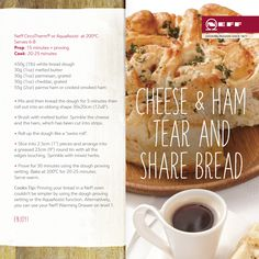This Neff recipe for Cheese & Ham tear and share bread is super easy-to-make and delicious! This Neff recipe for Cheese & Ham tear and share bread is super easy-to-make and delicious! This Neff recipe for Cheese & Ham Steam Recipes, Oven Recipes, Nutella Star Bread, Tear And Share Bread, Gluten Free Party Food, Fermented Bread, Bread Twists, Yogurt Bread
