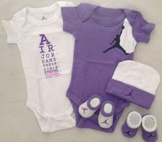 Nike Jordan Infant New Born Baby Boy/Girl Shoulder Bodysuit, Booties and Cap 0-6 Months One Set 3 Piece Set by NIKE, http://www.amazon.com/dp/B004YDL6IE/ref=cm_sw_r_pi_dp_9hgErb1YEE2MP