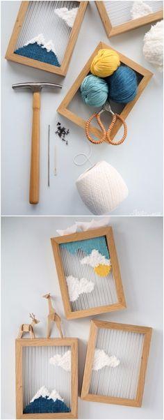 Paisajes tejidos para decorar - jesus-sauvage.com - DIY Textile Canvas