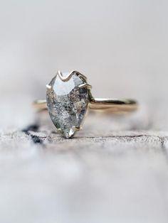Dark Desires // Salt and Pepper diamond ring.