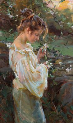 """""""Silver Light and Apple Blossoms"""" by Daniel Gerhartz."""