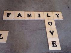 Large Scrabble wall tiles