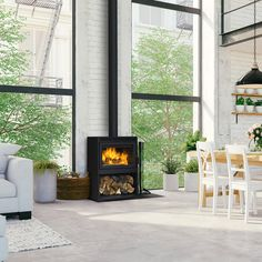 feetBurn Time: 6 to 10 HoursFirebox Volume: cu.Emission Rate: g/hr Wood Stove Modern, Modern Wood Burning Stoves, Wood Burning Stove Insert, Wood Burning Fireplaces, Small Wood Stoves, Wood Stove Surround, Wood Burner Stove, Modern Fireplaces, Cabin Fireplace