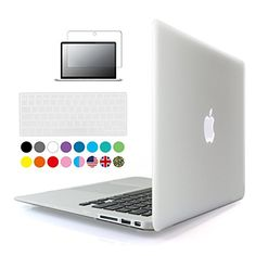 "iBenzer #8211 #3 #in #1 #Soft-Skin #Smooth #Finish #Soft-Touch #Plastic #HardiBenzer – 3 in 1 Soft-Skin Smooth Finish Soft-Touch Plastic Hard Case Cover & Keyboard Cover & Screen Protector for Macbook Air 11""NO CD-ROM, Clear MMA11CL+2"