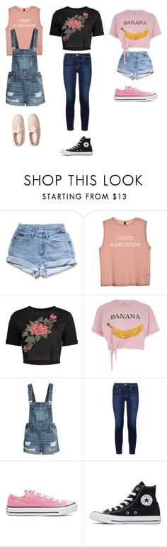 """UnTiTLeD #56"" by katie-lovebug on Polyvore featuring Levi's, River Island, Hudson, Converse and Hollister Co."