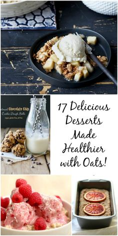 17 Delicious Vegan Desserts Made Healthier with Oats!