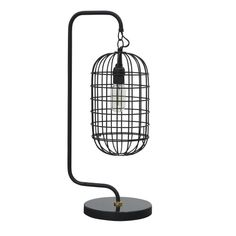 Ren-Wil Laxey 1 Light Table Lamp in Matte Black Industrial Light Fixtures, Industrial Lighting, Light Table, Lamp Light, Stone Lamp, Buffet Lamps, Wood Lamps, Unique Lighting, Making Ideas