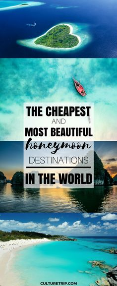 These Are the Cheapest and Most Beautiful Honeymoon Destinations in the World - - On a budget? Check out the cheapest and the most romantic honeymoon destinations from around the globe. Romantic Honeymoon Destinations, Honeymoon Tips, Honeymoon Places, Romantic Vacations, Romantic Getaway, Romantic Travel, Vacation Destinations, Dream Vacations, Vacation Spots