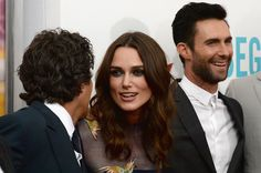 "Keira Knightley Photos Photos - Actors Mark Ruffalo, Keira Knightley and Adam Levine attend the ""Begin Again"" premiere at SVA Theater on June 25, 2014 in New York City. - 'Begin Again' Premieres in NYC — Part 3"