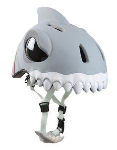 Crazy Safety - Casco bicicletta bambino WHITE SHARK