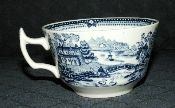 Royal Staffordshire Clarice Cliff Tonquin Blue Tea Cups