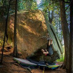 Twisted by Design ( ), Calabogie, Ontario, Canada. Photo by Philip Quade [ Rock Climber Climbers, Rock Climbing, Bouldering, Strong Women, Ontario, Canada, Adventure, Outdoor Decor, Instagram Posts