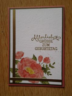 Stampin Up - Birthday Blooms / Geburtstagsblumen