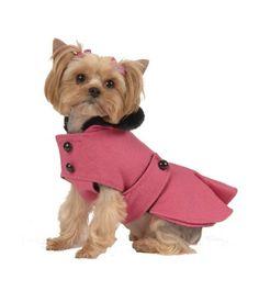 Max's closet pet dog clothing designer pink pleated coat small dog new xs-l - Pet Coats, Small Dog Coats, Small Dog Clothes, Puppy Clothes, Small Dogs, Dog Clothes Patterns, Pet Fashion, Dog Jacket, Dog Costumes