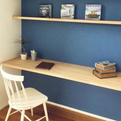 kotoriさんの、壁紙,造作,ワークスペース,机,のお部屋写真