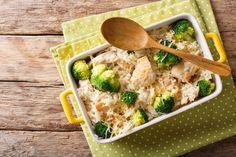 One-Pot Broccoli, Chicken & Rice Casserole Chicken And Vegetable Casserole, Chicken Rice Casserole, Chicken And Vegetables, Broccoli Chicken, Casserole Recipes, Broccoli Casserole, Top Recipes, Diabetic Recipes, Dinner Recipes