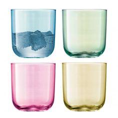 LSA International Polka Assorted Pastel Tumblers - Set of 4 Glasses
