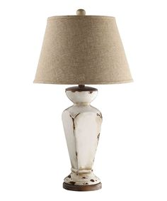 The Stein World Cadence Table Lamp with Tapered Drum Shade brings a warm stylish look to any table. This ceramic lamp has a rustic distressed-looking finish for a cozy fashionable appearance perfect for enhancing the décor of your home. Elk Lighting, Outdoor Lighting, Lighting Ideas, White Cottage, Cottage Chic, French Cottage, Cottage Ideas, Cottage Style, Lamp Shade Store