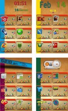 Beautiful, fun, colorful homescreen w/ transparent folder icons #homepackbuzz #buzzlauncher