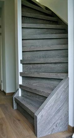 Love the color of this wood Rustic Barn Homes, Metal Barn Homes, Metal Building Homes, Pole Barn Homes, Building A House, Stair Slide, Pole Barn House Plans, Stair Makeover, Stair Detail