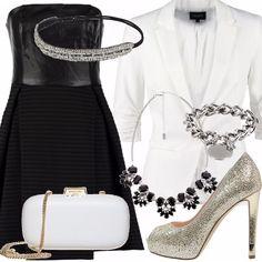 Tacchi alti · Outfit per la sera composto da mini dress nero 0cb0d015675