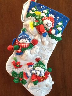 Diversión en la nieve Bucilla Navidad media