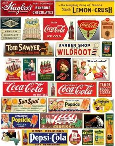 Vintage Labels, Vintage Ads, Vintage Signs, Road Trip With Kids, Model Train Layouts, Chocolate Ice Cream, Paper Models, Classic Toys, Model Trains
