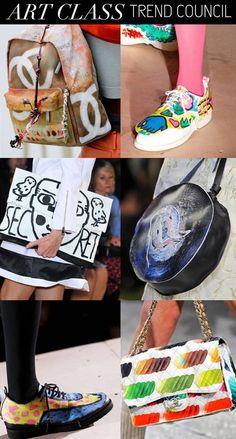 Women's Accessories-Spring Summer 2015-Trend Council, Art Class