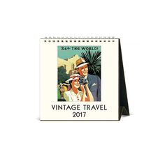 Vintage Travel 2017 Easel Calendar