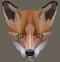 low poly wolf - Google Search