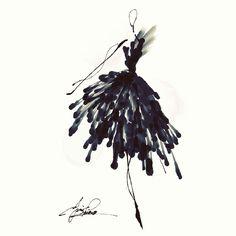 #sketch #design #fashiondesign #dress #artist #illustration #hautecouture #watercolor