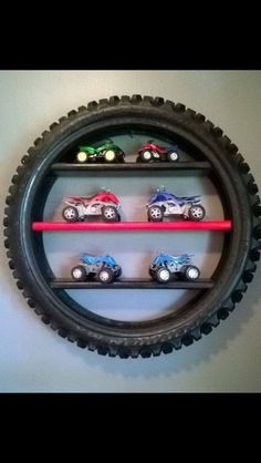25 DIY Tire Crafts - Creative Ways to Repurpose Old Tires Into Adorable Things Kids Bedroom, Bedroom Decor, Car Bedroom Ideas For Boys, Bedroom Shelves, Bedroom Boys, Room Kids, Baby Bedroom, Bedroom Colors, Kids Rooms