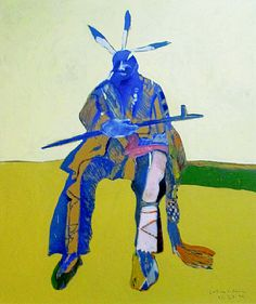 Sitting Indian, by Fritz Scholder